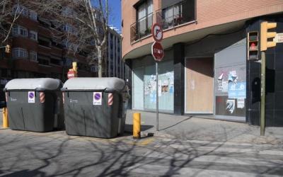 Exterior del local ocupap al carrer Sol i Padrís | Roger Benet
