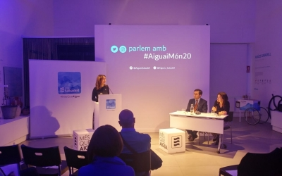 La Secretària de Medi Ambient i Sostenibilitat de la Generalitat, Marta Subirà, a l'Aula de l'Aigua | Ràdio Sabadell
