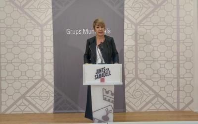 Lourdes Ciuró, portaveu de Junts per Sabadell, ha presentat la moció | Ràdio Sabadell