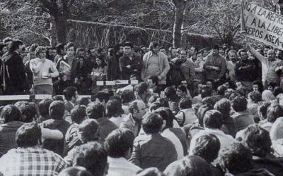 Manifestants a la Vaga General de 1976   Cedida