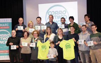 Els principals implicats el la organització de la cursa 'Corro contra el Càncer' | Ramon Alberich