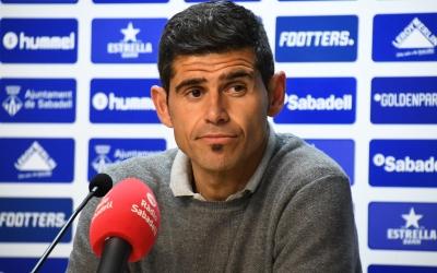 Hidalgo, a la roda de premsa posterior al partit del Llagostera | Críspulo Díaz