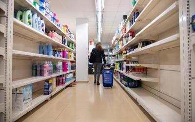 El passadís d'un supermercat sabadellenc/ Roger Benet