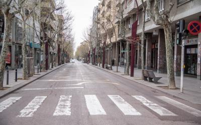 La Rambla, buida de persones | Roger Benet
