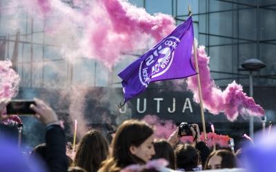 Imatge de la manifestació de l'any passat a Sabadell | Roger Benet