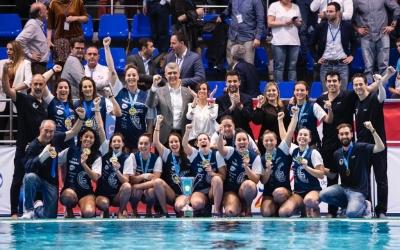 Celebració de l'Astralpool Natació Sabadell per la setzena Copa de la Reina | CN Sabadell