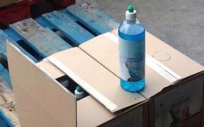 El gel fals confisat pels Mossos | Cedida