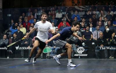 Pajares va ser capaç de guanyar-li un set a Tarek Momen | PSA World tour