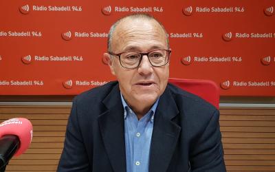 Joan Martí, director general del Parc Taulí, en una entrevista a Ràdio Sabadell | Núria García