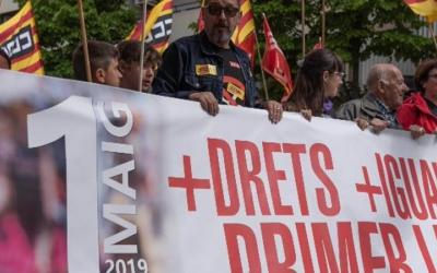 Manifestació de l'1 de Maig de l'any passat/ CCOO
