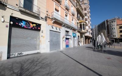 El Passeig, amb els bars tancats/ Roger Benet