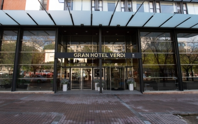 Exterior de l'Hotel Verdi/ Roger Benet
