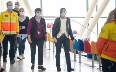 Marta Farrés amb Pepi Rivera, directora assistencial de l'Hospital Temporal
