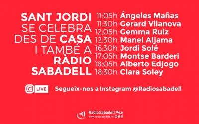L'InstagramLivede Ràdio Sabadell emetrà vuit entrevistes per Sant Jordi | Roger Benet