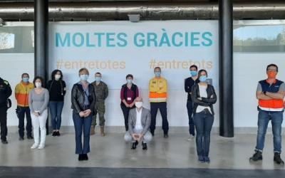 Els portaveus visiten l'Hospital Temporal | Ajuntament de Sabadell