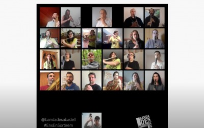 Fotograma del vídeo de la Banda de Música de Sabadell