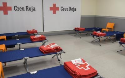 Les dependències de Creu Roja d'atenció als sense sostre durant l'any/ Roger Benet