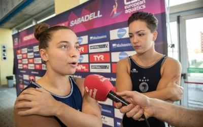 Ariño, juntament amb Sílvia Morell, en una entrevista de fa uns mesos amb Ràdio Sabadell | Roger Benet