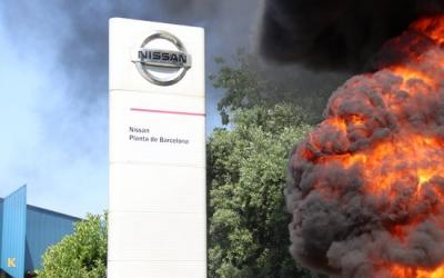 Protestes a la planta de Nissan de la Zona Franca aquest matí | ACN