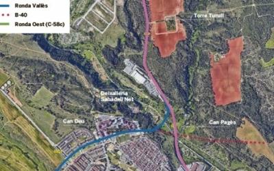 Possibles traçats viaris futurs a la zona entre Castellar del Vallès i Sabadell