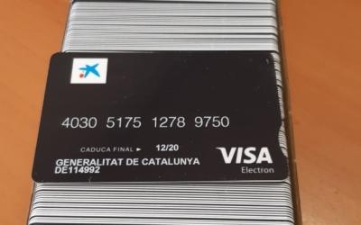 Les targetes moneder entregades per al Generalitat | Cedida