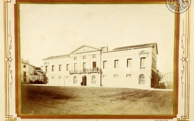 Imatge de la plaça Sant Roc l'any 1881 | Arxiu Històric de Sabadell