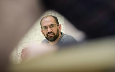 Maties Serracant, en una roda de premsa a l'Ajuntament quan era alcalde | Roger Benet