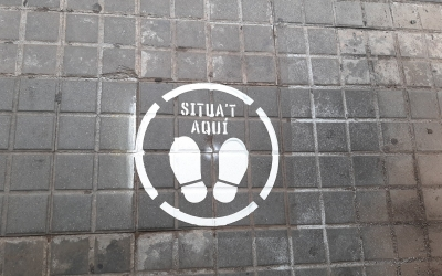 Una de les marques als carrers/ Ajuntament de Sabadell
