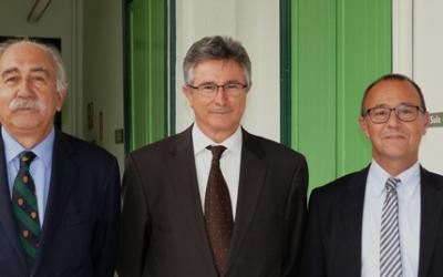 D'esquerra a dreta, Joan Antoni Gallego, Modesto Custodio i Joan Martí | Parc Taulí