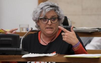 Nani Valero, portaveu de la Crida, durant un Ple/ Roger Benet