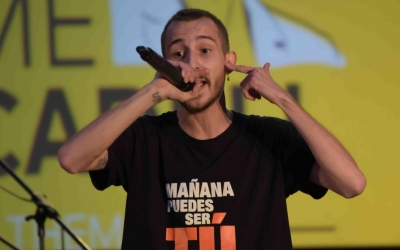 Elgio, durant una actuació a Sabadell/ Roger Benet