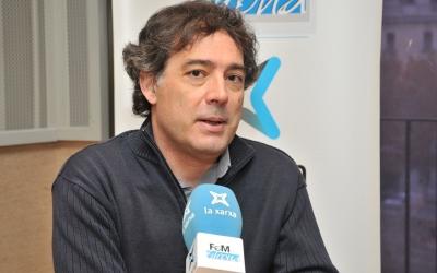 Xavier Diez (USTEC) als estudis de La Xarxa Girona | Cedida