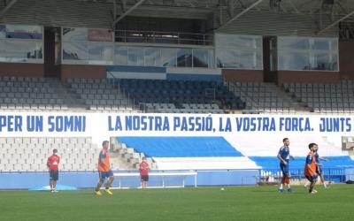 Així s'han entrenat avui els jugadors arlequinats | CE Sabadell