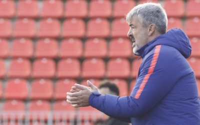 Fernández, en un partit quan era entrenador de l'Atlético 'B' | Atlético de Madrid