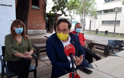 Juli Fernàndez durant la roda de premsa d'avui  | Núria García