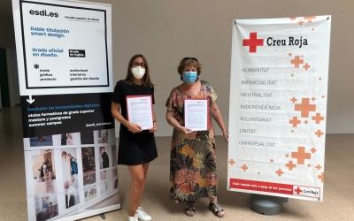 ESDii Creu Roja Sabadell signen un conveni per desenvolupar iniciatives de disseny social | Cedida