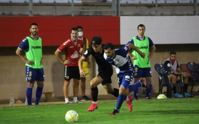 Óscar Rubio va ser titular contra l'Atlético 'B' | Cedida