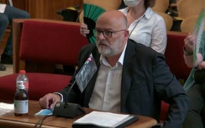Lluís Corominas declarant avui | ACN