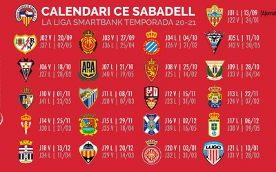 Calendari sencer del Centre d'Esports Sabadell la temporada 2020/21