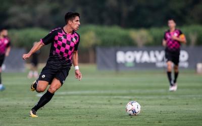 Víctor va debutar com a jugador del Sabadell dimecres davant l'Andorra | Marc González Alomà - CES