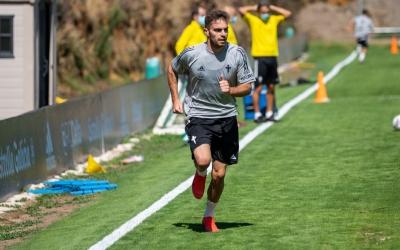 Juan Hernández en un entrenament a Vigo | RC Celta