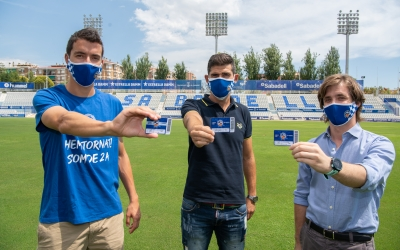 Pedro Capó, Antonio Hidalgo i Jose Manzanera, en la presentació de la campanya | Roger Benet