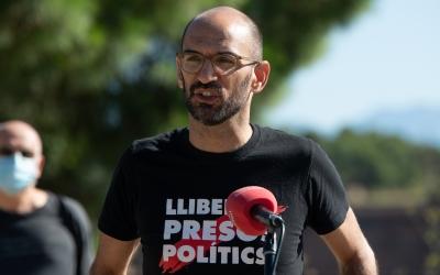 Maties Serracant, exalcalde de Sabadell, durant la roda de premsa | Roger Benet