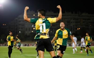 Néstor i Édgar, celebrant el gol contra la 'Cultu' | CE Sabadell