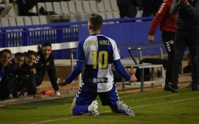 Édgar Hernández ha estat el pitxiti del Sabadell enguany amb 10 gols | Críspulo Díaz
