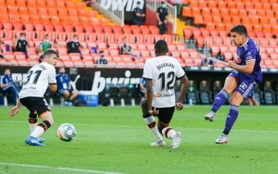 Moment del gol de Víctor García a Mestalla | UEFA