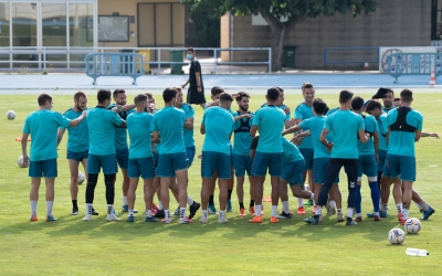 Bon ambient a l'entrenament del Sabadell aquesta setmana a Sant Oleguer | Roger Benet