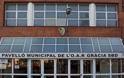 Exterior del pavelló municipal de Gràcia/ Cedida