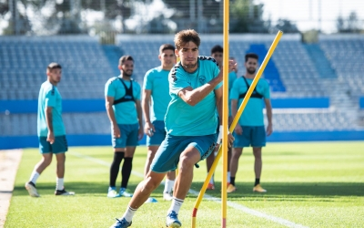 Els jugadors arlequinats han estrenat la gespa de la NCA | CE Sabadell