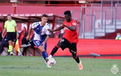 Gorka Guruzeta, perseguint Idrissu Baba | RCD Mallorca